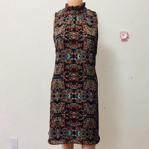 Anthropologie Puella Black Floral Dress Size (L)